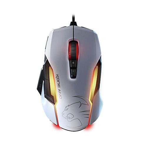 Roccat Kone AIMO Gaming Maus (hohe Präzision, optischer Owl-Eye Sensor (100 bis 12.000 DPI), RGB AIMO LED Beleuchtung, 23 programmierbare Tasten, designt in Deutschland, USB) weiß