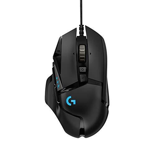 Logitech G502 HERO High-Performance Gaming Maus, HERO 16000 DPI Optischer Sensor, RGB-Beleuchtung, Gewichtstuning, 11 Programmierbare Tasten, Benutzerdefinierte Spielprofile, PC/Mac - EU-Verpackung