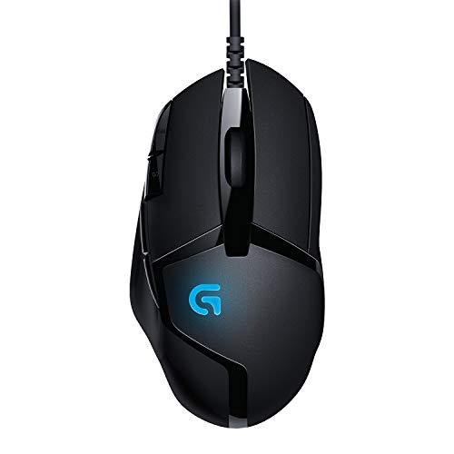 Logitech G402 Hyperion Fury Gaming-Maus, 4000 DPI Optischer Sensor, 8 Programmierbare Tasten, Taste zur DPI-Umschaltung, 32-Bit-ARM-Prozessor, Leichtgewicht, PC/Mac, Schwarz - Deutsche Verpackung