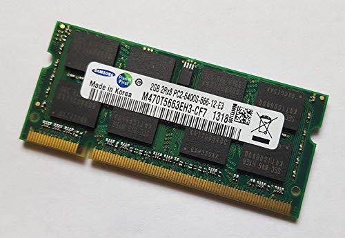 2GB (1x 2GB) DDR2 800MHz (PC2 6400S) SO Dimm Notebook Laptop Arbeitsspeicher RAM Memory Samsung Hynix Micron