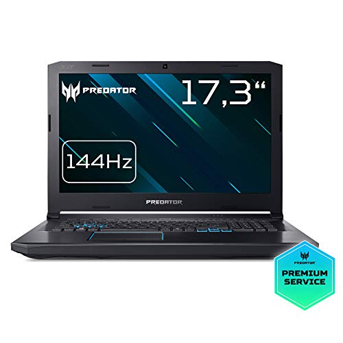 Predator Helios 500 (PH517-51-99UR) 43,9 cm (17,3 Zoll Full-HD IPS matt) Notebook (Intel Core i9-8950HK, 32 GB RAM, 1000 GB HDD, 512 GB PCIe SSD, GeForce GTX 1070, Win 10) schwarz/blau