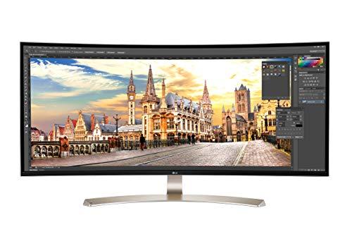 LG 38UC99-W 95,25 cm (37,5 Zoll) Curved 21:9 UltraWide IPS Monitor (QHD+, AMD Radeon FreeSync, DAS Mode), weiß