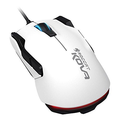 ROCCAT Kova - Pure Performance Gaming Maus (7000 dpi, Rechts-/Linkshänder, 12 programmierbare Maustasten) weiß