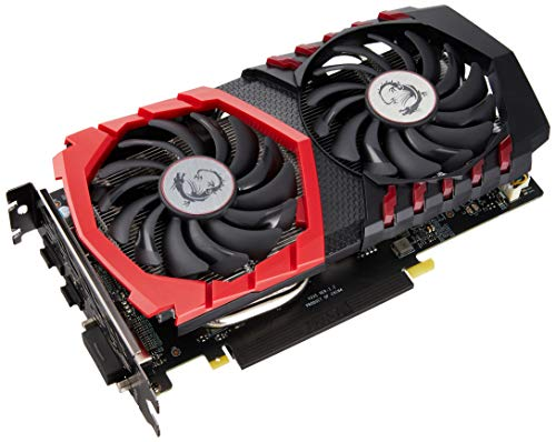 MSI NVIDIA GeForce GTX 1050 Ti Gaming X 4G Grafikkarte (GDDR5, HDMI, DP, DL-DVI-D, Afterburner OC, VR-Ready) schwarz