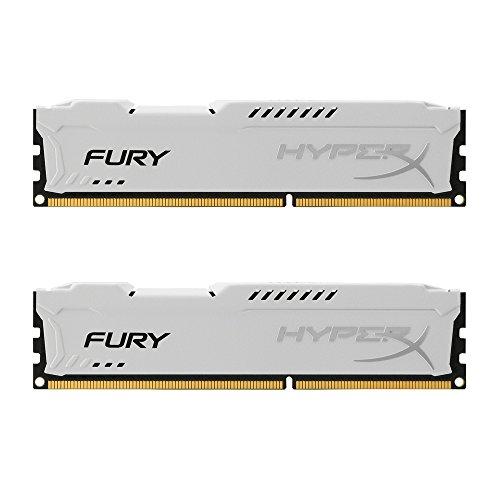 HyperX HX316C10FWK2/8 Fury Weiß Arbeitsspeicher, DDR3, 8GB (Kit 2x4GB ), 1600MHz, CL10, 240-pin UDIMM