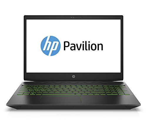 HP Pavilion Gaming 15-cx0201ng (15,6 Zoll/ Full HD IPS) Gaming Laptop (Intel Core i7-8750H, 1 TB HDD + 128 GB SSD, 16 GB RAM, Nvidia GeForce GTX 1050 4GB, Windows 10 Home 64) schwarz / weiss