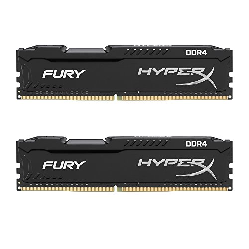HyperX HX421C14FBK2/8 Fury DDR4 8GB Arbeitsspeicher kit (2x 4GB) 2133MHz  Non-ECC CL14 DIMM