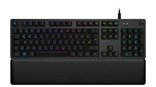 Logitech G513 Mechanische Gaming-Tastatur, Romer-G Tactile Switches, RGB-Beleuchtung, USB-Durchschleife, Handballenauflage mit Memory Foam, Aluminium-Gehäuse, Deutsches QWERTZ-Layout - Carbon