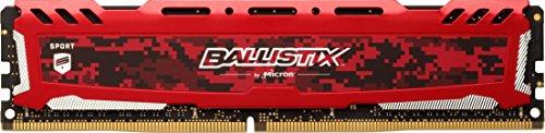 Crucial Ballistix Sport LT BLS8G4D26BFSEK Desktop Gaming Speicher (2666 MHz, DDR4, DRAM, 8GB, CL16) rot