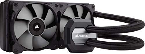 Corsair Hydro H100i V2 RGB Wasserkühlung (2 x 120mm Lüfter, All-In-One Extreme Performance CPU) schwarz