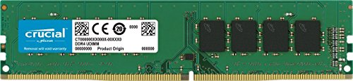 Crucial CT8G4DFS824A 8GB Speicher (DDR4, 2400 MT/s, PC4-19200, Single Rank x 8, DIMM, 288-Pin)