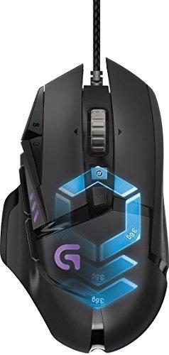 Logitech ProteusSpectrumGaming-Maus (mit RBG-Anpassung und 11programmierbaren Tasten) schwarz