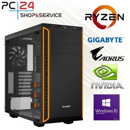 PC24 STREAMING PC | AMD Ryzen THREADRIPPER 2950X mit 16x 3,50GHz | 500GB M.2 970 EVO SSD | nVidia GF RTX 2060 mit 6GB RAM | 32GB DDR4 PC2666 RAM G.Skill | Gigabyte X399 DESIGNARE EX | Windows 10 Pro | AMD Gamer PC