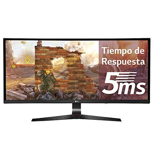 LG 34UC89G 86,36 cm (34 Zoll) Curved 21:9 UltraWide  Full HD IPS Gaming Monitor (144 Hz, G-Sync, DAS Mode), schwarz