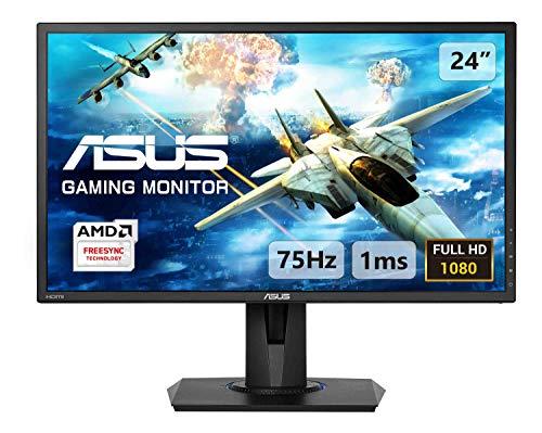 ASUS VG245H 61 cm (24 Zoll) Gaming Monitor (Full HD, VGA, HDMI, 1ms Reaktionszeit, FreeSync) schwarz
