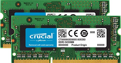 Crucial CT8G3S160BM.M16FP 16GB (8GBx2) Speicher Kit für Mac (DDR3/DDR3L, 1600 MT/s, PC3-12800, SODIMM, 204-Pin)